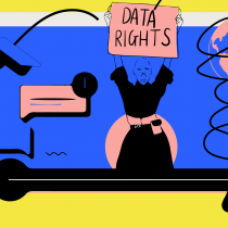 The Fight for Data Rights Illustration by Stacey Olika